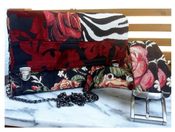 Mini Umhängetasche, Abendtasche, festliche Tasche, Damentasche mit Gliederkette