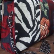 Taschen Minis Rosen Zebra Patchwork Bild Seite hinten