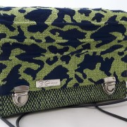 Mini Frühling Tasche Leopard grün blau Vorne