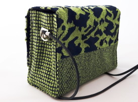 Crossover Mini Tasche Model Leopard grün blau Model 12