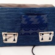 Crossbodybag blau offen