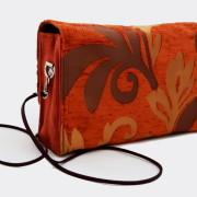 Model 20 Kleine Umhängetasche Orange Bild Tasche von hinten