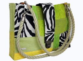 Patchworktasche Zebra look Seite